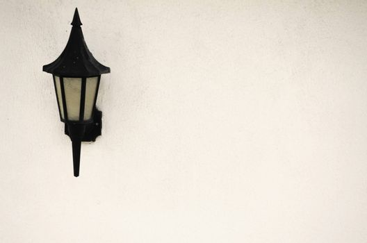 Single Lantern at White Wall, Copyspace