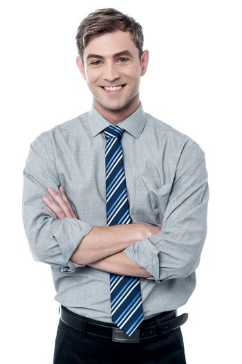 Smiling male corporate executive