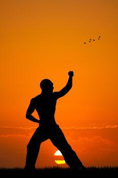Judo at sunset