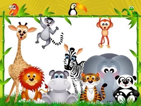 illustration of wild animals