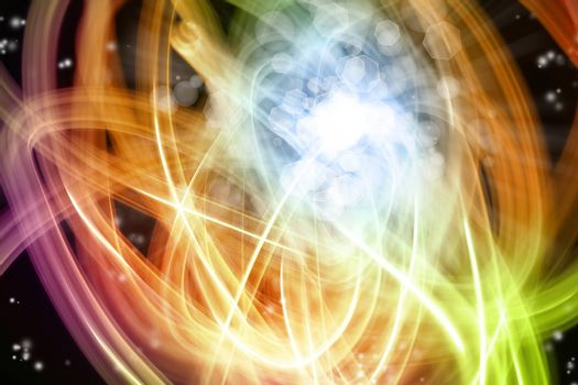 Abstract swirly lines futuristic space background