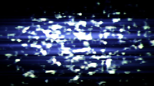 Future Tech 0276 - Futuristic technology abstract screen with digital noise and light effects.