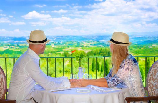 Happy couple on resort