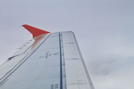 wing aircraft in the air