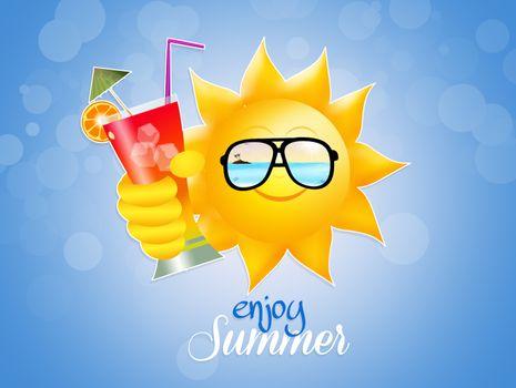 illustration of         enjoy summer
