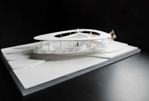 Architectural model with contour