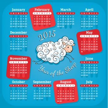 Year of the sheep 2015 calendar