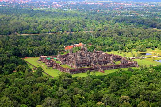 Angkor Wat the city which has a temple world heritage siem reap city kingdom of Cambodia