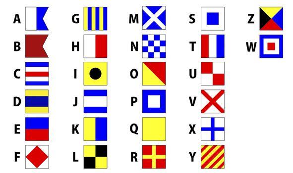 International maritime signal flags