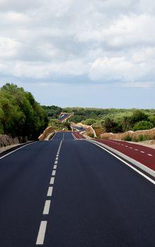 Asphalt Winding Road