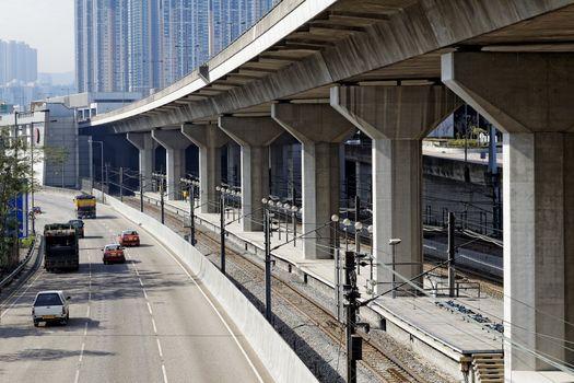 Freeway Overpasses and Train Tracks
