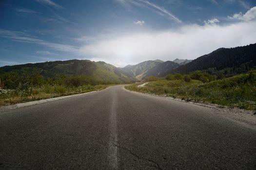 Motor road in highland