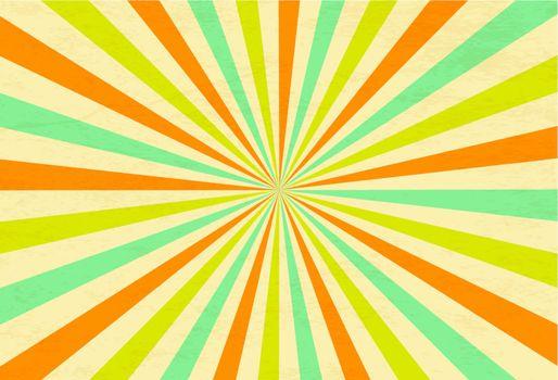 Sunburst Retro Textured Grunge Background. Vintage Rays