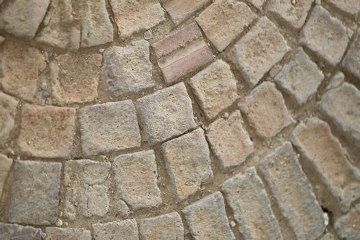 Textures of stone pathway for the background.