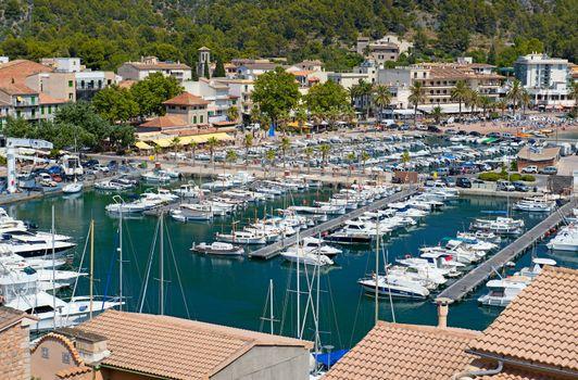 Port de Soller in Majorca, Spain ( Balearic Islands )