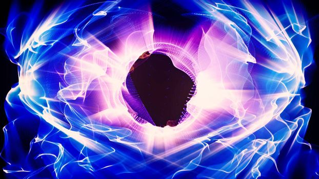Light Effect 0393 - Radial waves of light undulate, ripple and shine.