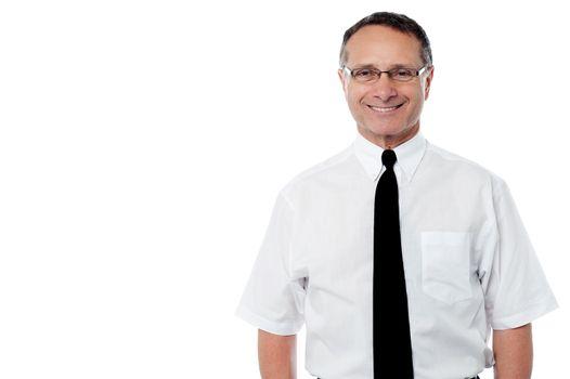 Senior business executive smiling
