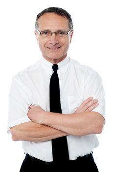 Confident mature business executive