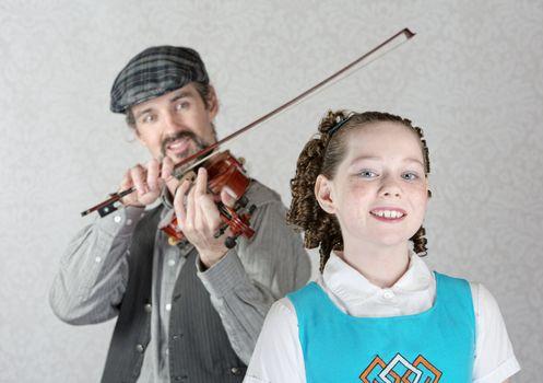 Irish Girl Listening to Fiddler