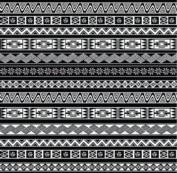 Abstract Ethnic Seamless Geometric Pattern. Vector llustration