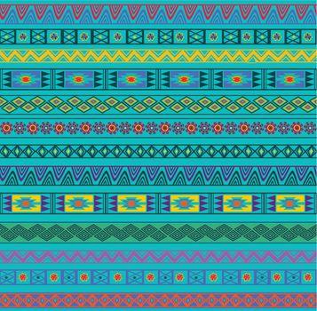 Abstract Ethnic Seamless Geometric Pattern. Vector Illustration