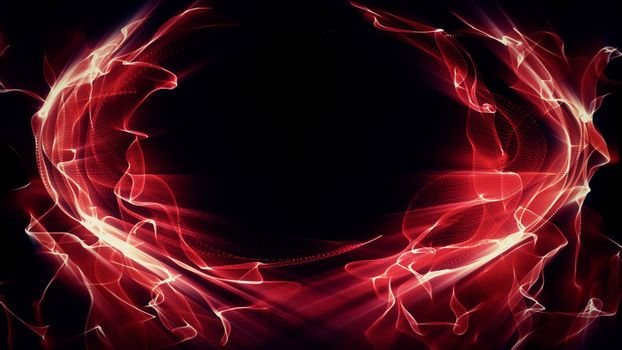 Light Effect 0413 - Waves of red light undulate, blend and shine.