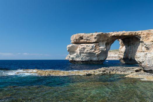 Azure Window - natural arch on Gozo island