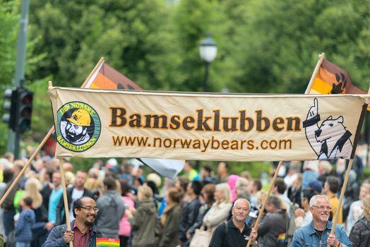 Europride parade in Oslo bamseklubben
