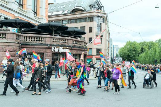 Europride parade in Oslo corner