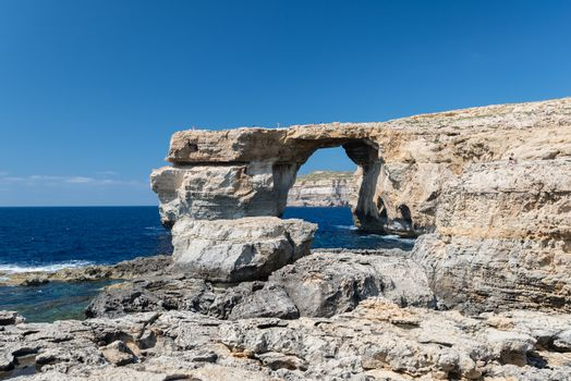 Azure Window, natural arch on Gozo island