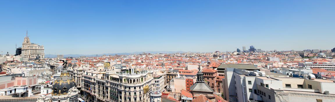 Panoramic view on Barcelona