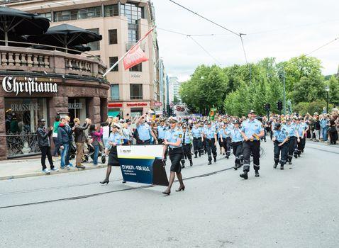 Europride parade in Oslo politiet