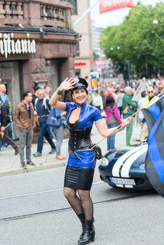 Europride parade in Oslo policewoman