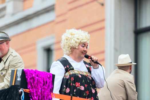 Europride parade in Oslo blond