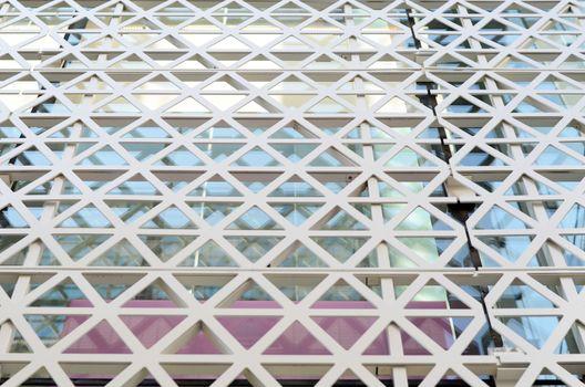 Hexagons steel facade pattern