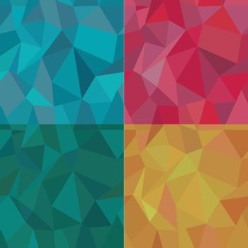 Seamless Polygonal Pattern Set, Background, Texture Vector