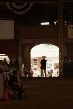 Waiting for livestock at fair