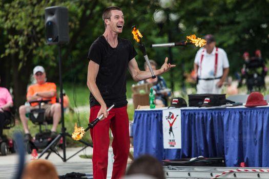 Juggler at Iowa State Fair at Iowa State Fair