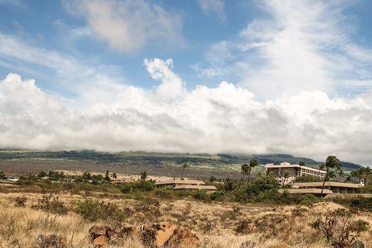 Dry Hawaian landsape in Kihei, Maui