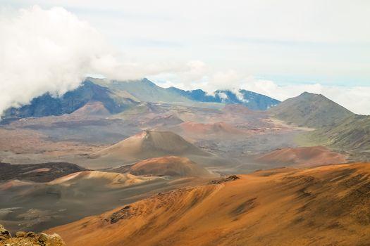 Mount Haleakala crater in Maui