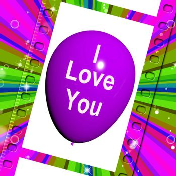 I Love You Balloon Representing Love and Couples