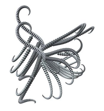abstract metal tentacle thing - 3d illustration