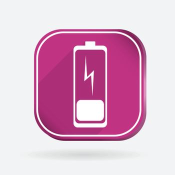 discharged battery.  Color square icon