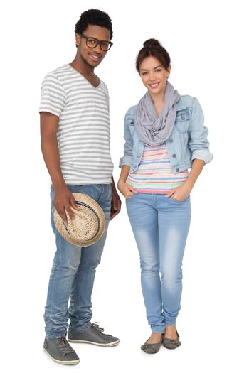 Portrait of a smiling cool young couple