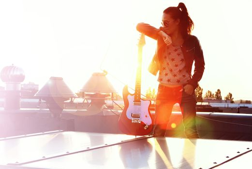 Girl with acoustic guitar