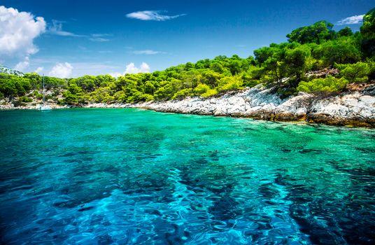 Beautiful uninhabited island