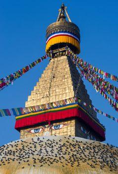 Buddhist Boudhanath stupa in Kathmandu