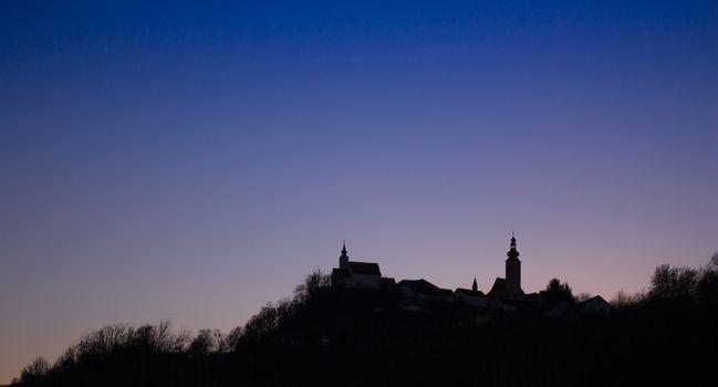 The famous silhouette of Straden, Austria