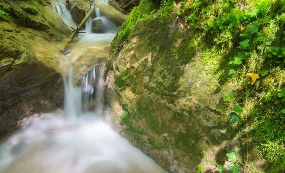 Waterfall closeup in the Alps, Austria