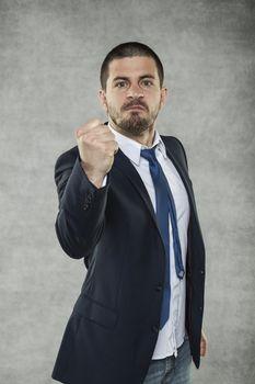 Businessman give last warning
